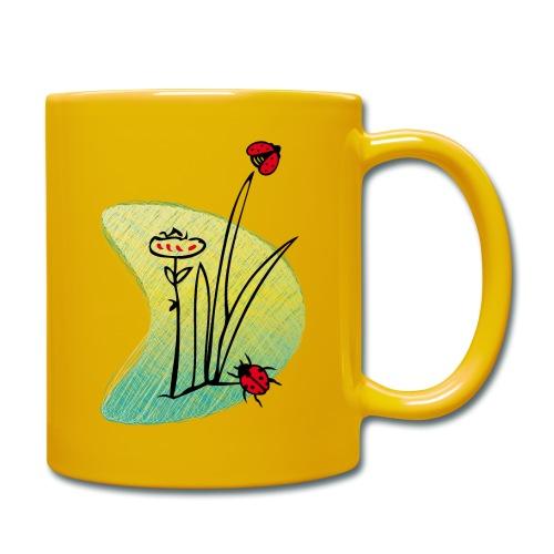 Marienkäfer, Schmetterling - Tasse einfarbig