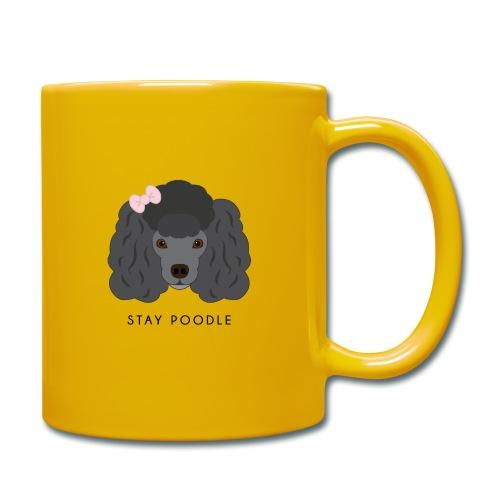 Poodle Black - Tazza monocolore