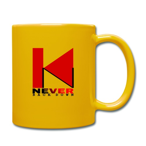 NEVER BACK DOWN - Mug uni