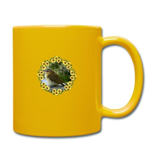 Vögelchen im Blumenkranz - Tasse einfarbig