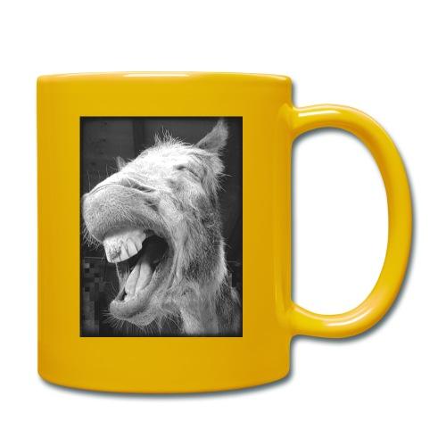 lachender Esel - Tasse einfarbig