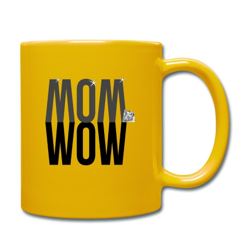 MOM WOW dunkel - Tasse einfarbig