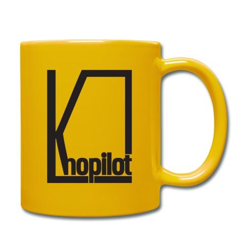 Quadrat schwarz Knopilot - Tasse einfarbig