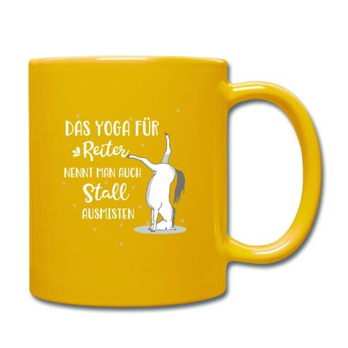 Yoga Pferd Stall ausmisten - Tasse einfarbig