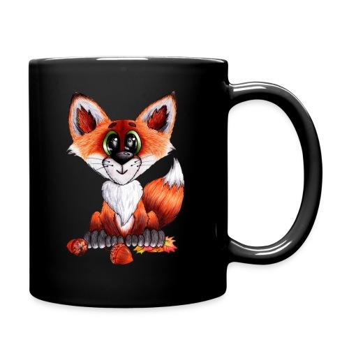 llwynogyn - a little red fox - Yksivärinen muki