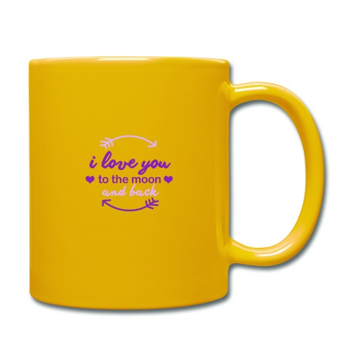 i lo ve you to the moon and back - Taza de un color