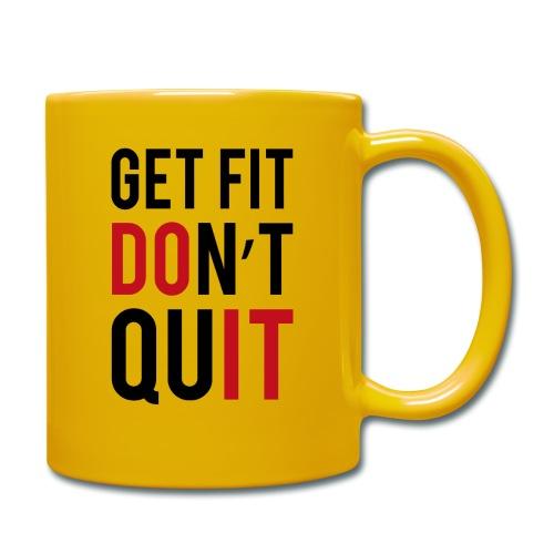 get fit dont quit - Mug uni