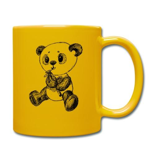 Panda Karhu musta scribblesirii - Yksivärinen muki