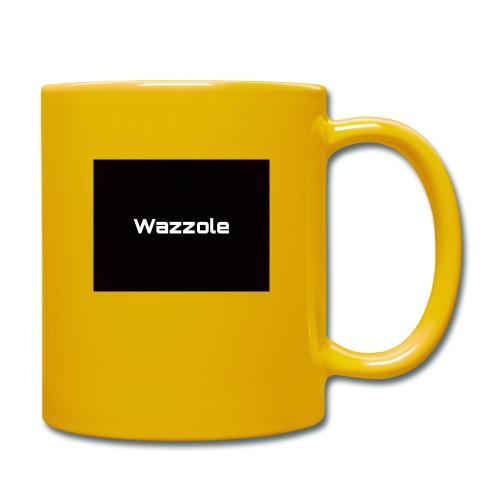 Wazzole plain blk back - Full Colour Mug