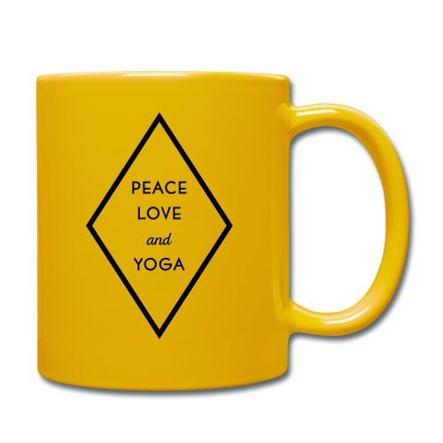 Peace Love & Yoga - Tasse einfarbig