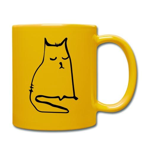 sad cat - Tasse einfarbig