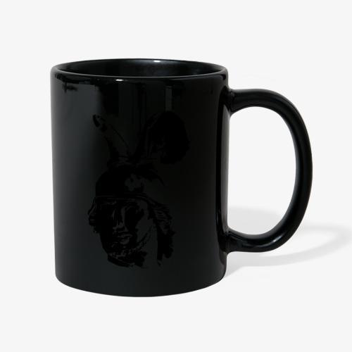 Kopf des Hermannsdenkmals - einfarbig, schlicht - Tasse einfarbig
