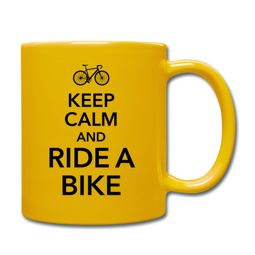 keep calm and ride a bike Fahrrad Sattel Drahtesel - Full Colour Mug