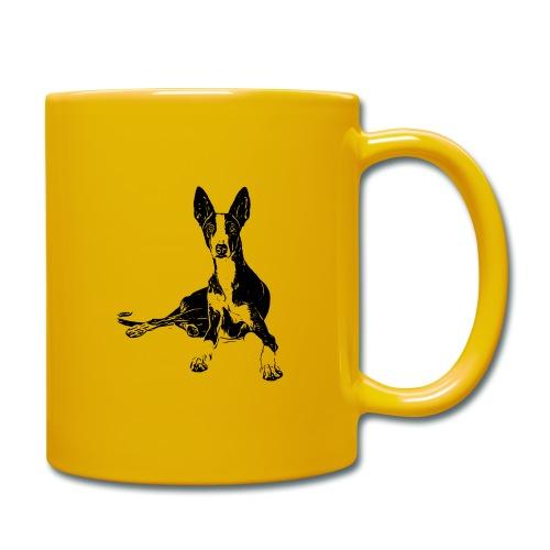 Podenco Hunde Design Geschenkidee - Tasse einfarbig