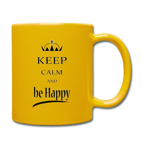 keep_calm and_be_happy-01 - Tazza monocolore