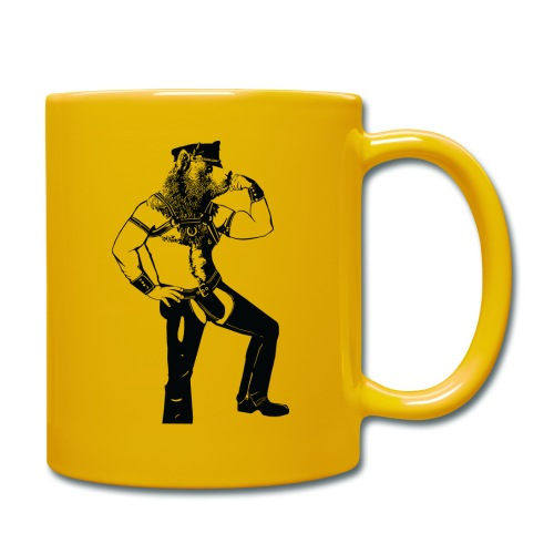 Grrr leather bear - Mug uni
