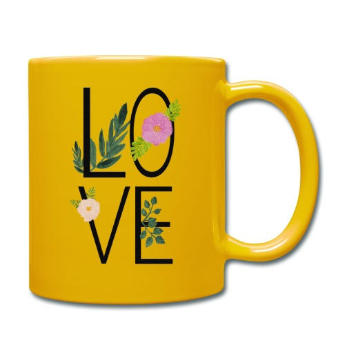 Love Sign with flowers - Full Colour Mug