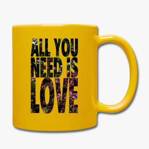 All You need is love - Kubek jednokolorowy