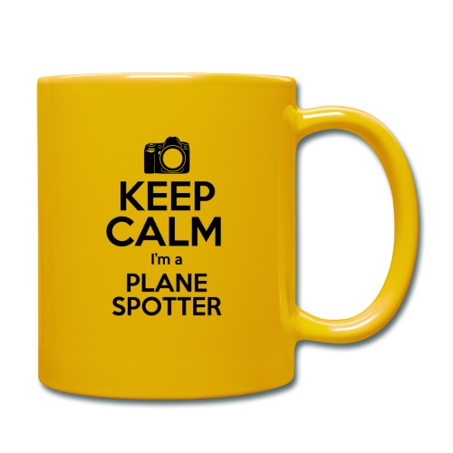 Keep Calm PlaneSpotter - Tazza monocolore