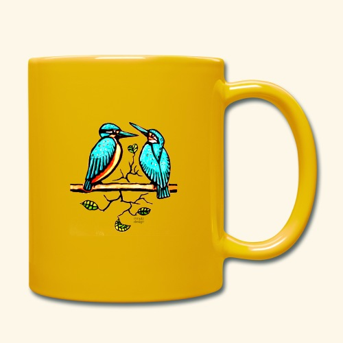 Eisvogel Paar farbe - Tasse einfarbig