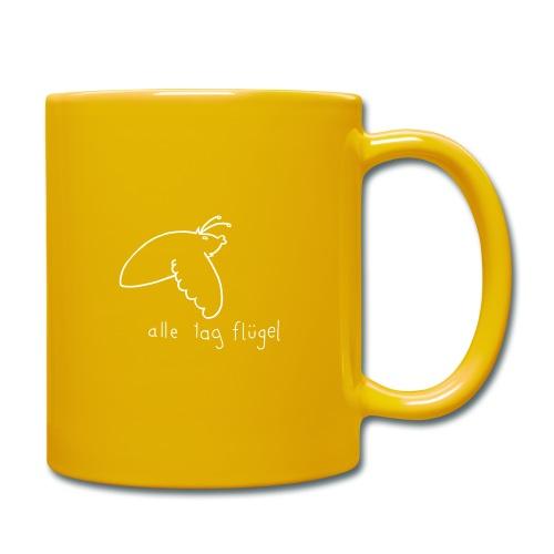 Schwärmer - Alle Tag Flügel - weiß - Tasse einfarbig