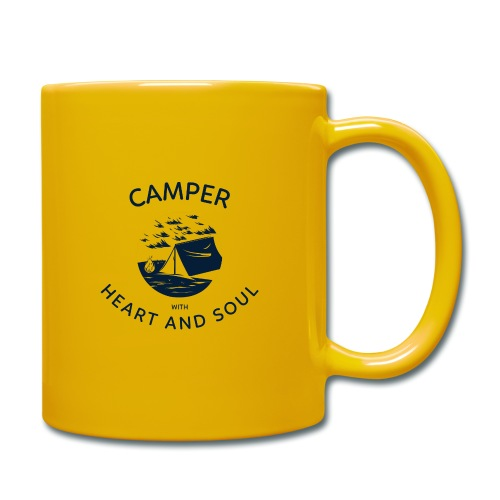 Camper with heart and soul - Tasse einfarbig