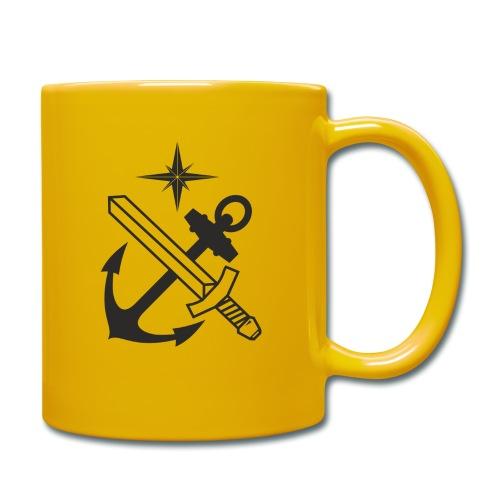 Basskyddskompaniet 1a pluton logo - Enfärgad mugg