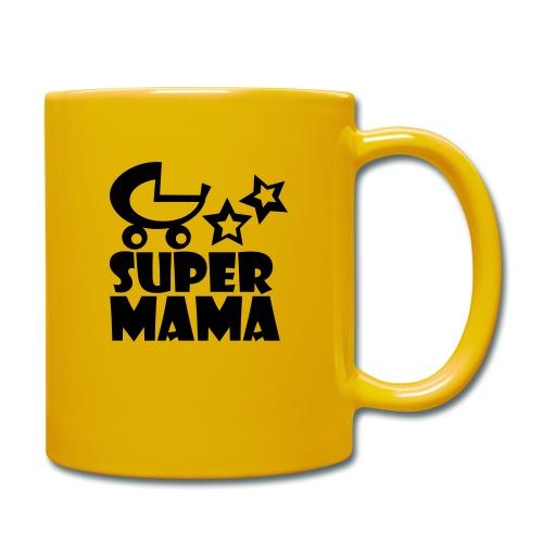 supermama - Tasse einfarbig