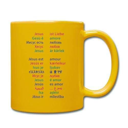 Jesus ist Liebe – in 15 Sprachen - Tasse einfarbig
