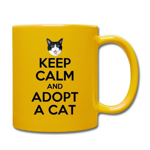 keep calm and adopt a cat - Tasse einfarbig