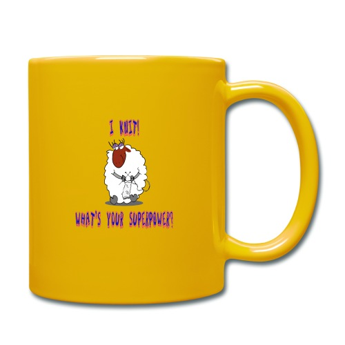 I Knit, Superpower - Tasse einfarbig