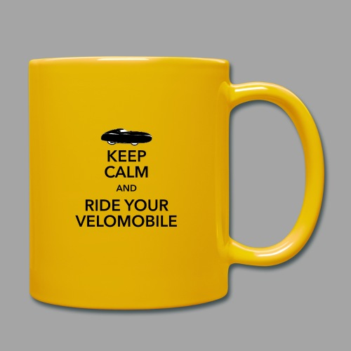 Keep calm and ride your velomobile black - Yksivärinen muki