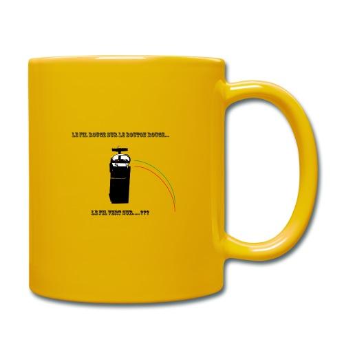 le fil rouge sur le bouton rouge - Mug uni