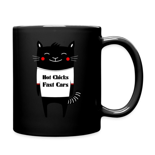 Cat Hot Chicks Fast Cars - Full Colour Mug