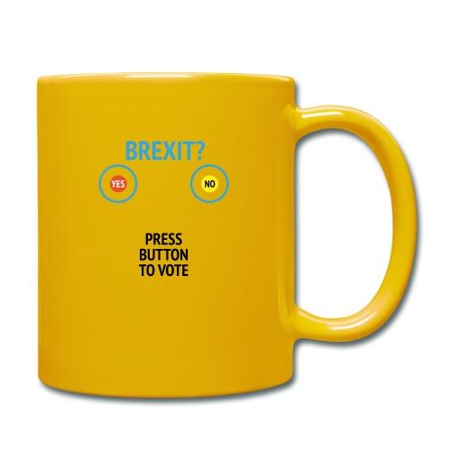 Brexit: Press Button To Vote - Ensfarvet krus