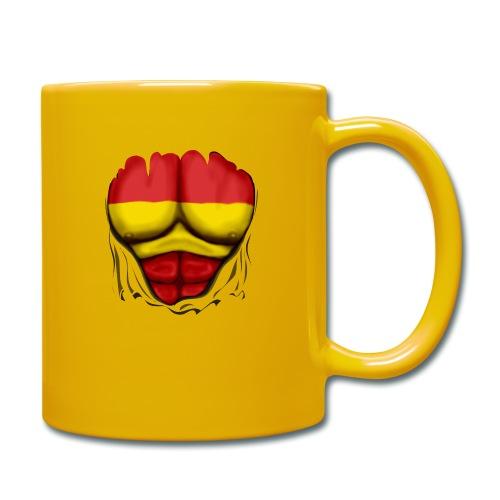 España Flag Ripped Muscles six pack chest t-shirt - Full Colour Mug