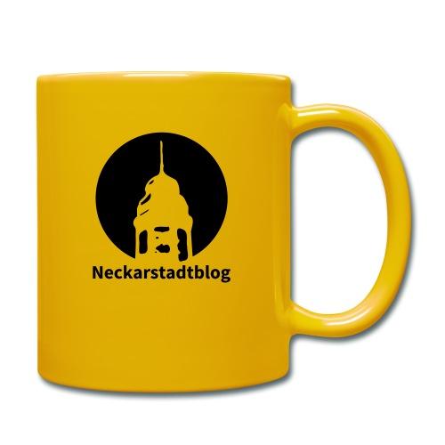 Logo mit Schriftzug inv. (Alternative Farben) - Tasse einfarbig