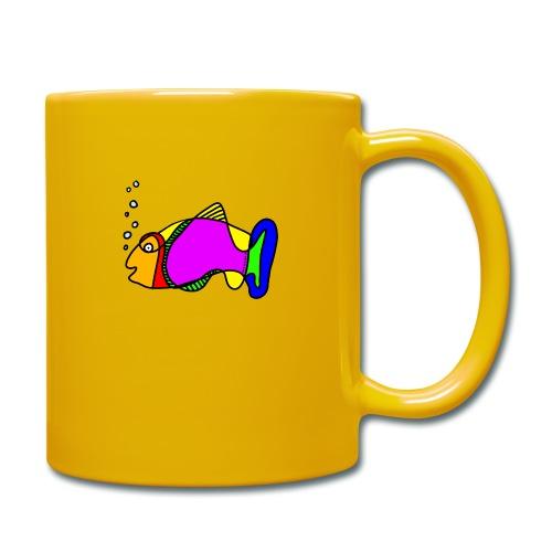 Fisch exit-shirt Tusche Fisch - Tasse einfarbig