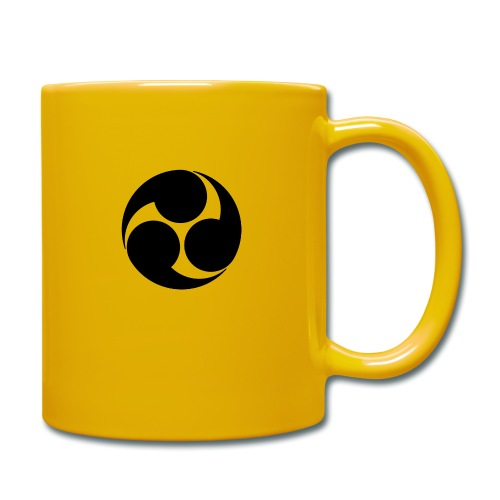 Kobayakawa Mon Japanese clan black - Full Colour Mug