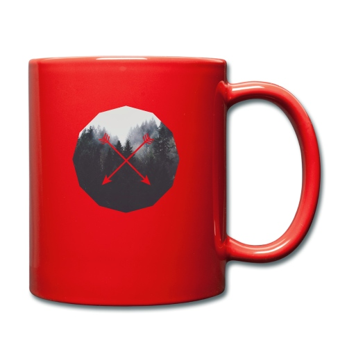 Misty Forest Blended With Crossed Arrows - Tazza monocolore