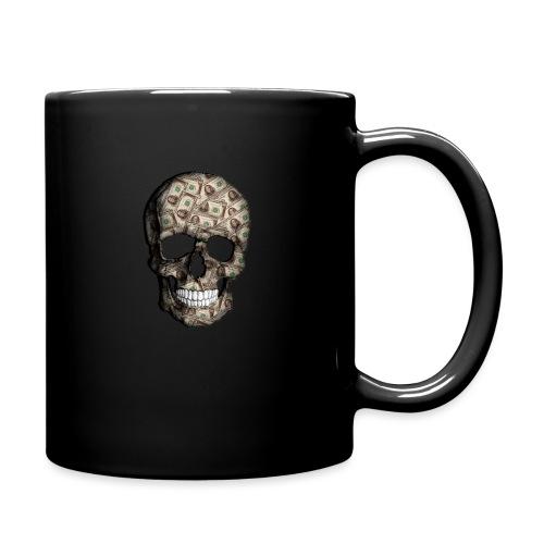 Skull Money Black - Taza de un color
