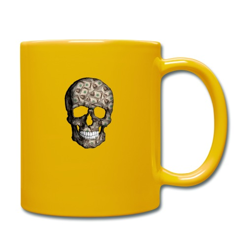 Skull Money Black - Taza de un color