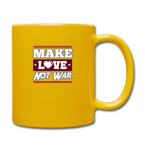 Make_love_not_war by Lattapon - Ensfarvet krus