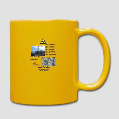 no nuclear button (German) Wer ist der Nächste? - Full Colour Mug