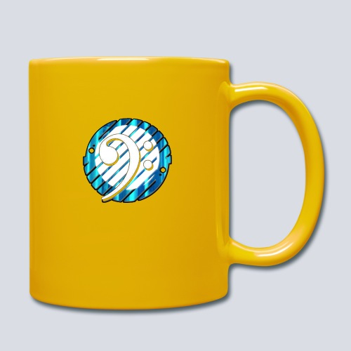 BassClef blue/white - Full Colour Mug