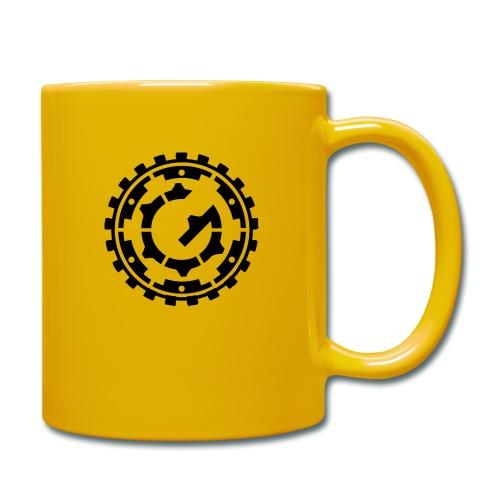 Steffen G. Logo schwarz - Tasse einfarbig