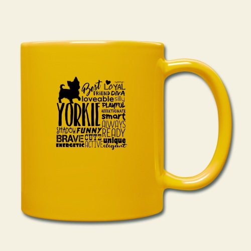Yorkshire Terrier Words B - Yksivärinen muki