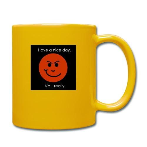 Have a nice day - Ensfarvet krus