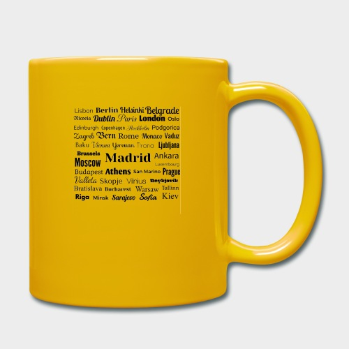 European capitals - Full Colour Mug