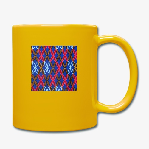 Design motifs bleu rose orange marron - Mug uni